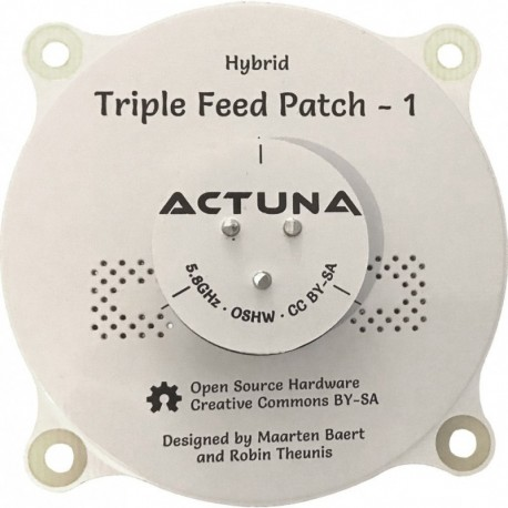 Antena Triple Feed Patch 1 - 5.8GHz RHCP+LHCP (TFP-1)