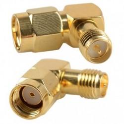 Angle adapter RP-SMA plug - socket RP-SMA