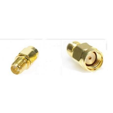 Adapter RP-SMA plug to socket RP-SMA