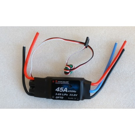 ESC FlyColor 45A 3-8S OPTO rev counter